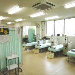 リハビリテーション室です。各種治療機器そろっています。